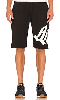 Billionaire Boys Club BB Helmut Logo Shorts in Black