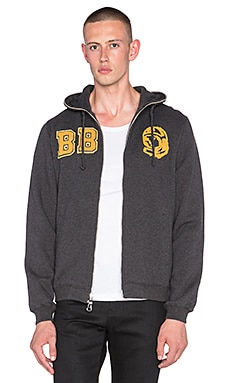 Billionaire Boys Club Study Hall Zip Hoodie in Heather Black