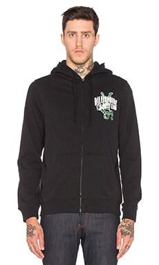Billionaire Boys Club Full Zip Knit Hoodie in Black