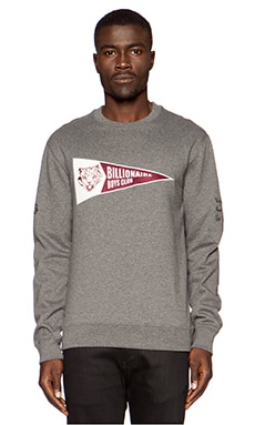 Billionaire Boys Club Pennant Crewneck in Charcoal Heather