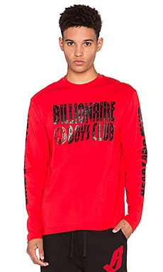 Billionaire Boys Club Heart and Mind L/S Tee in Red