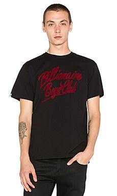 Billionaire Boys Club Script BB Logo Tee in Black