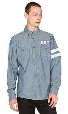 Billionaire Boys Club Scholar Button Down in Blue Chambray