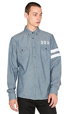 Billionaire Boys Club Scholar Button Down in Blue Chambray