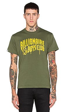 Billionaire Boys Club Billionaire Arch Drip Tee in Bronze Green
