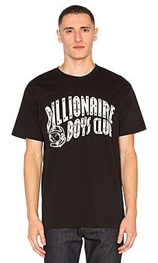 Billionaire Boys Club Arch Logo Reflective Ski Grid Tee in Black