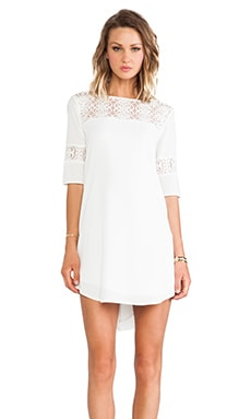 Devera Lace Insert Dress in Ivory