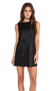 BB Dakota Rodell Faux Leather Dress in Black
