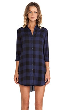 BB Dakota Keenan Plaid Shirt Dress in Ink