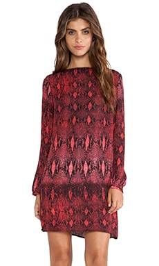 BB Dakota Vasha Viper Print Dress in Red