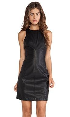 BB Dakota Miranda Faux Leather Dress in Black