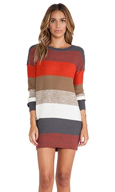 Jack by BB Dakota Marilou Sweater Dress in Red Multi