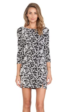 Jack by BB Dakota Melina Floral Dress in Black & White