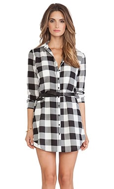 BB Dakota Tanwyn Plaid Shirtdress in Black
