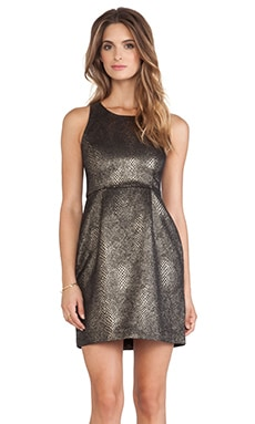 Jack by BB Dakota Lizanne Dress in Black & Bronze