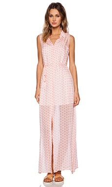 BB Dakota Samira Maxi Shirtdress in Powder Puff