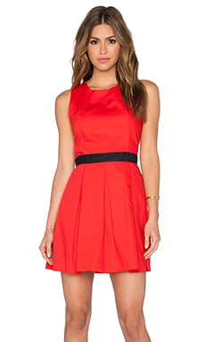 Jack by BB Dakota Endre Dress in Flame Scarlet Red