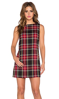 BB Dakota Harlow Plaid Dress in Chili