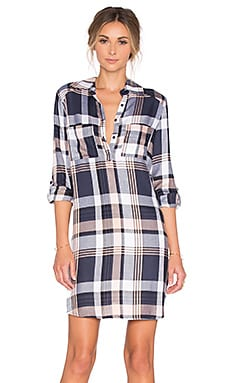 BB Dakota Jack by BB Dakota Midge Shirt Dress in Rose Smoke