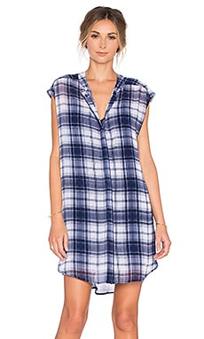 Nelson Button Up Dress in Navy