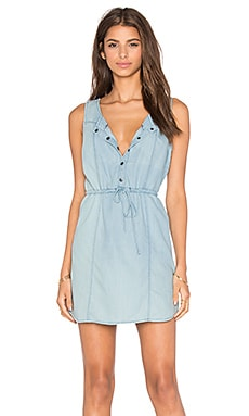 Jack by BB Dakota Ferell Dress in Medium Wash Chambray