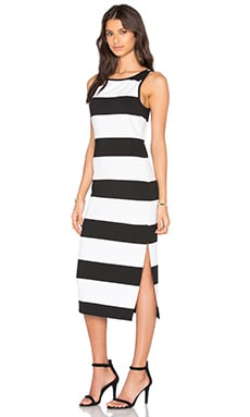 Francesca Dress in Black & White