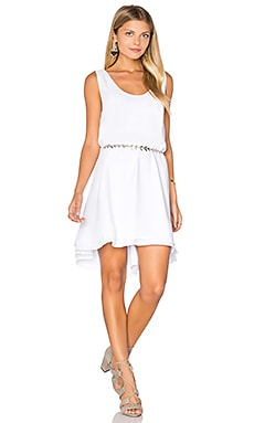 Henley Dress en Blanc Optique