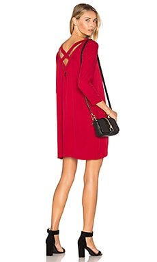Zepplin Dress in Cherry Red