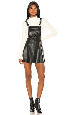 Pinafore Your Love Faux Leather Dress BB Dakota $41