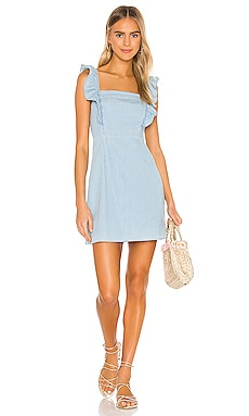 МИНИ ПЛАТЬЕ CHAMBRAY ALL DAY BB Dakota $79