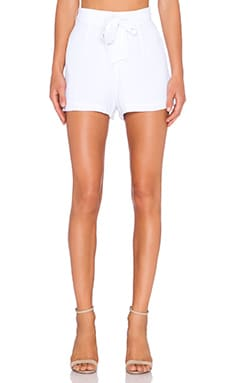 BB Dakota Maddalen Shorts in Optic White