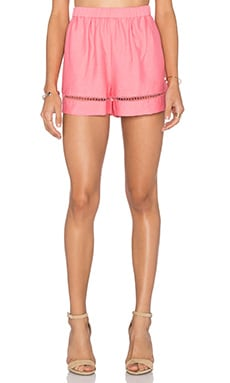 BB Dakota Elastic Waist Short in Coral