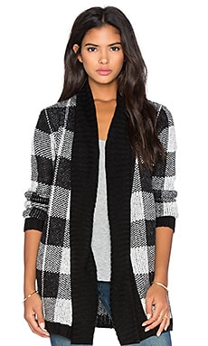 BB Dakota Mardi Buffalo Plaid Cardigan in Oatmeal