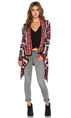 Jack by BB Dakota Lucianna Cardigan in Flame Scarlet Red