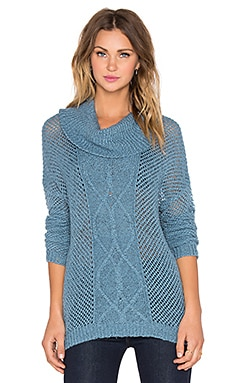 BB Dakota Jack by BB Dakota Samwell Sweater in Bluestone