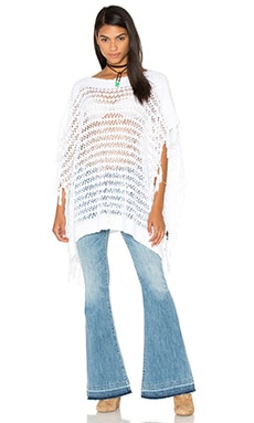 Kari Poncho in White