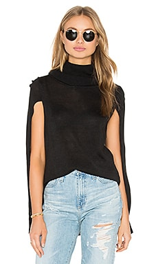 Ames Sweater Cape in Black