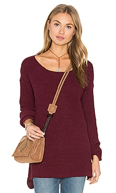 BB Dakota Tally Sweater in Aubergine