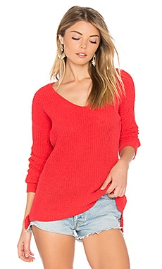 Zona Sweater in Valentine Red