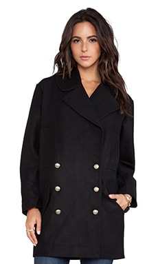 BB Dakota Wilette Bonded Wool Coat in Black