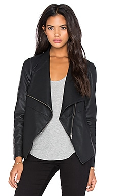 BB Dakota Lander Drapey Front Jacket in Black
