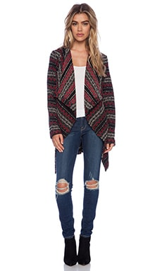 Jack by BB Dakota Brendi Drapey Patterned Coat in Multi