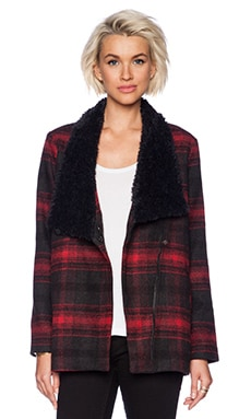 Jack by BB Dakota Rydell Plaid Jacket in Black & Red