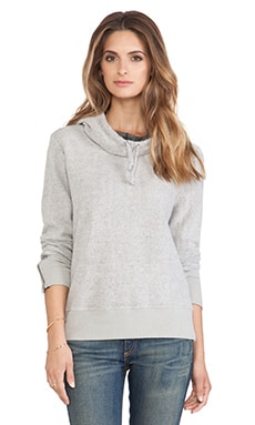BB Dakota Collective Adrianna Cowl Hoodie in Grey