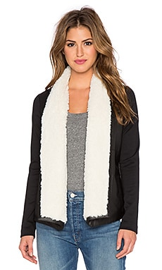 Jack by BB Dakota Barron Jacket with Faux Fur Trim in Black