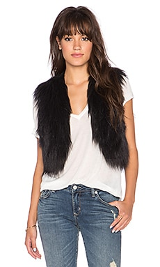 Azza Faux Fur Vest in Black