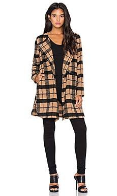 BB Dakota Kellen Plaid Coat in Camel