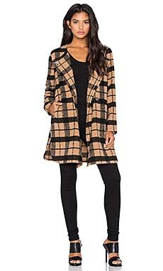 BB Dakota Kellen Plaid Coat in Camel