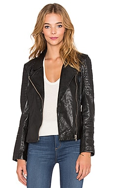 BB Dakota Benton Leather Jacket in Black