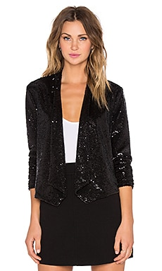 BB Dakota Christel Sequin Blazer in Black
